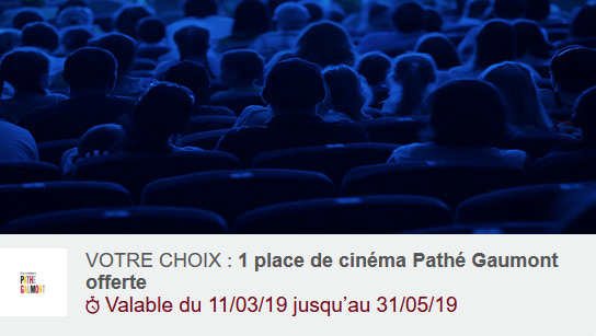 Place de cinéma gratuite