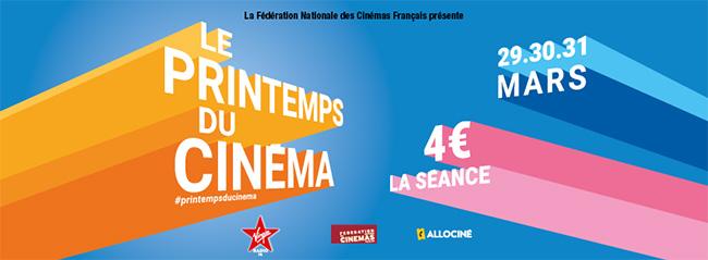 Printemps du Cinéma 2020 : Tarif réduit à 4€ la séance