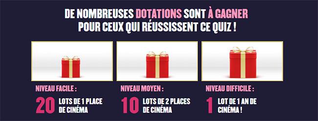 Tentez de gagner jusqu'à un an de cinéma avec la FNCF
