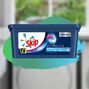 Optimisation Carrefour Market sur la lessive Skip Ultimate : remise + bon