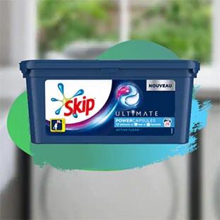 Optimisation Carrefour Market sur la lessive Skip Ultimate : remise + bon