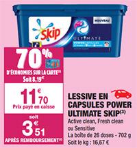 Promos capsules Skip chez Carrefour
