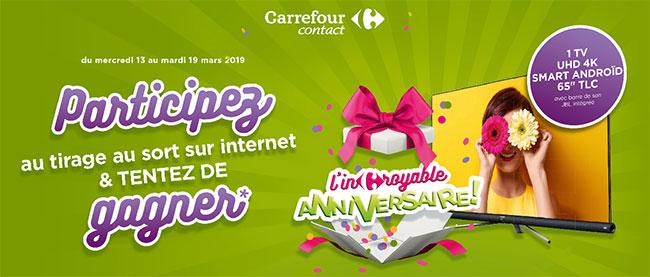 Tentez de gagner un téléviseur TLC 4K avec Carrefour Contact