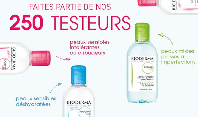 testez gratuitement l'eau micellaire Bioderma adaptée à votre peau