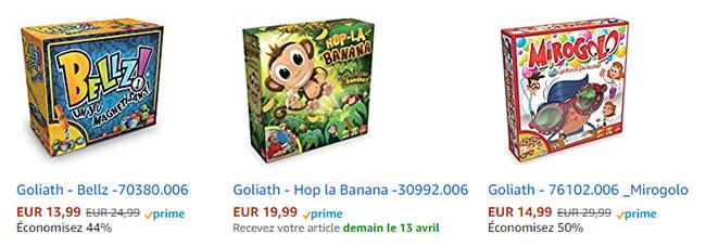 Bons plans Goliath sur Amazon