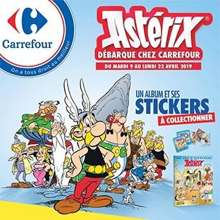 Stickers Astérix Panini Carrefour offerts + ticket parc Astérix à gagner