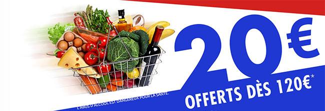 20€ de remise avec le code de Carrefour Drive