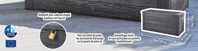 nouveaux styles 502b4 3cfde Bon plan Lidl : Coffre de rangement pas cher à 28,99€