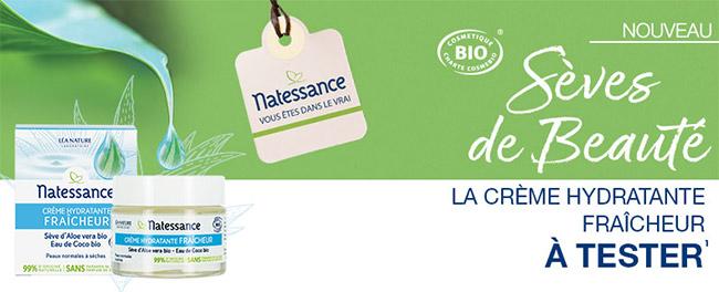 tester gratuitement la Crème Hydratante Fraîcheur Natessance