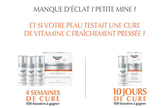 Tentez de remporter votre cure Hyaluron-Filler Vitamine C Boost Eucerin