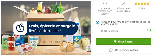 coupon Toupargel de 40€ avec Groupon.fr