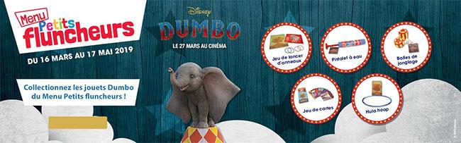 jouet du moment Disney Dumbo offert chez Flunch
