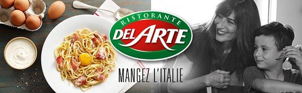 testez gratuitement le menu Bambino et l'apéritif Del Arte