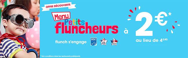 promo Flunch : menu enfant à moindres frais