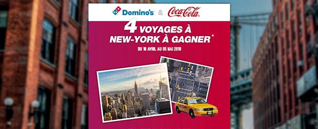 Tentez de remporter un séjour à New York avec Domino's et Coca-Cola