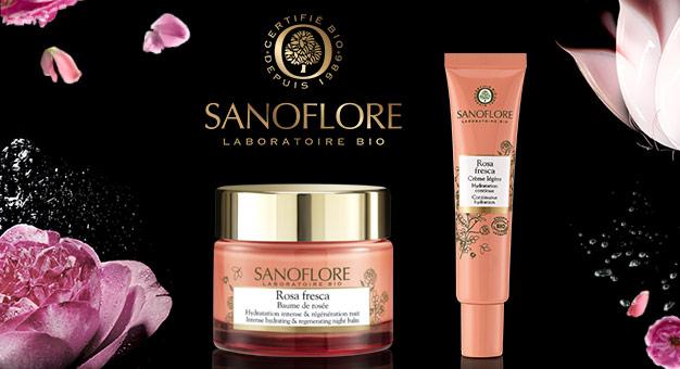 Crème Légère et Baume de Rosé Sanoflore à tester gratuitement