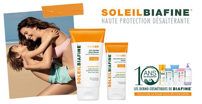 Tentez de tester le Lait Solaire et l'Emulsion Solaire Visage Haute Protection