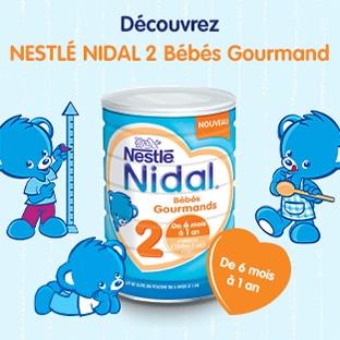 Test Nestlé gratuit : Nidal 2 Bébés Gourmands