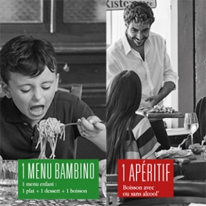Test Del Arte : menu enfant et apéritif offerts