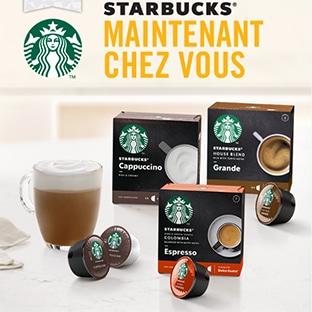 Test gratuit de capsules Dolce Gusto Starbucks