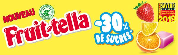 Tentez de tester gratuitement les bonbons Fruittella -30% de sucres