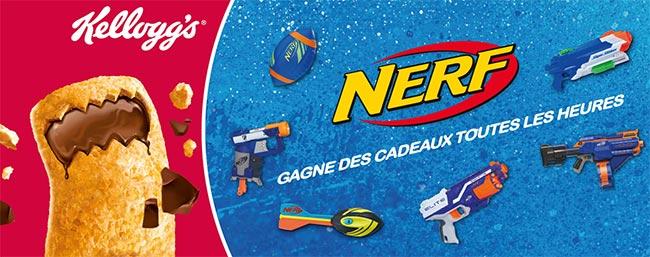 Tentez de gagner votre jouets Nerf avec Trésor de Kellogg's