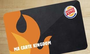 Carte de fidélité Burger King Kingdom