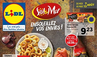 Catalogue Lidl « Sol & Mar » du 7 au 13 août 2019