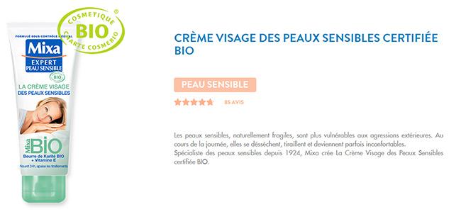 Testez gratuitement la Crème Visage des peaux sensibles Mixa