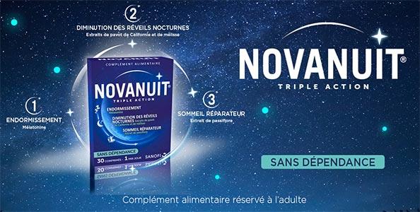 Testez gratuitement les compléments alimentaires Novanuit