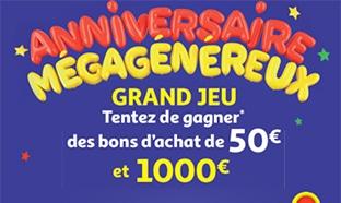 Jeu Méga Anniversaire Auchan