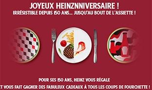 Jeu Anniversaire Heinz : assiettes et activités à gagner