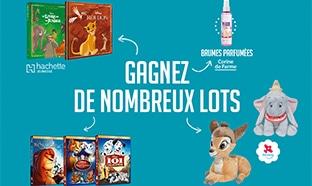 Jeu Disney Hachette : DVD, peluches, livres … à gagner