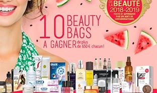 10 Beauty Bags (avec + de 650€ de produits de beauté) à gagner
