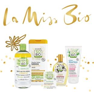 Jeu La Miss Bio 2020 : 150 lots de cosmétiques SO'BiO étic