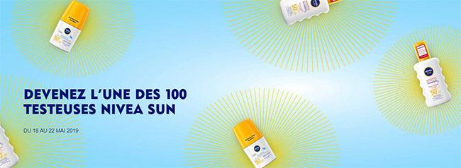tester gratuitement les soins Sun Sensitive Nivea