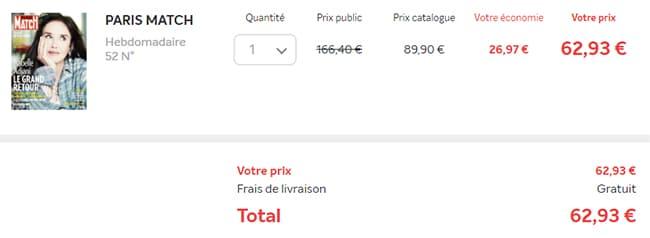 Recevez votre abonnement Paris Match à petit prix