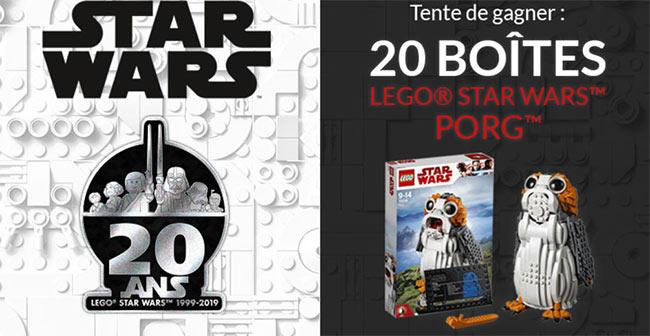 Tentez de gagner votre boîte de Lego Star Wars Porg avec Picwic