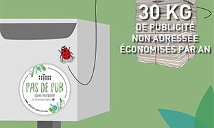 Bon plan Pousse-Pousse : Autocollant Stop Pub offert