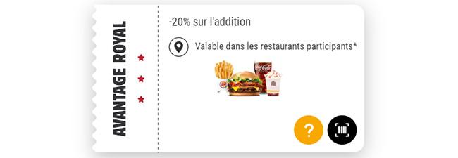 Bon de réduction Burger King avec Kingdom