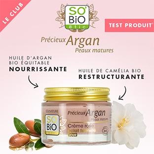 Test SO'BiO étic : 100 crèmes roses Éclat Fermeté gratuites