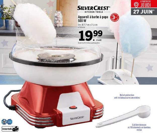 MAchine SilverCRest Barbe à papa pas cher Lidl