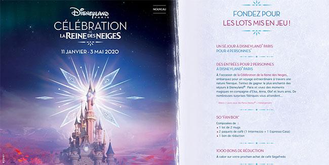 Tentez de remporter un séjour, des entrées Disney, une fan box ou des produit Segafredo