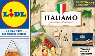 Catalogue Lidl Italiamo du 16 au 22 octobre 2019