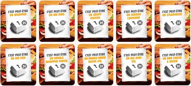 Exemples de burger mystère