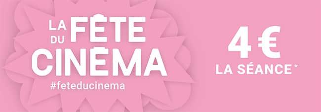 Tarif réduit de 4€ la place pendant la Fête du Cinéma 2021