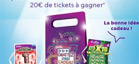 pochettes cadeaux tickets de grattage FDJ à gagner avec Cdiscount