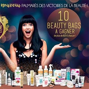 10 Beauty Bags (avec + de 825€ de produits de beauté) à gagner