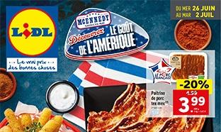 Catalogue Lidl : McEnnedy, découvrez le goût de l'Amérique