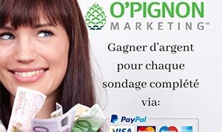 O'Pignon Marketing : Tests de produits et sondages rémunérés